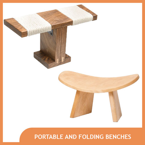 Portable and Folding Meditation Bench