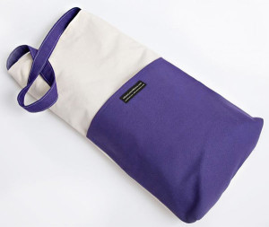 Natural and Purple Meditation Bench Bag