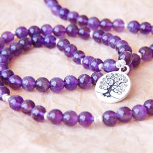 amethyst mala bracelet meditation