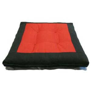 black red square zabuton meditation cushion