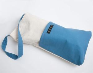 blue meditation bench bag