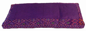 Border Print Meditation Bench Seiza Cushion