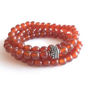 carnelian japa mala meditation beads