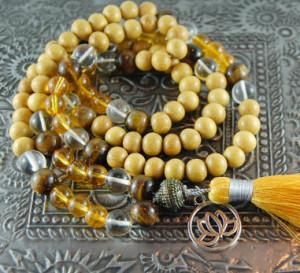 citrine mala bead bracelet
