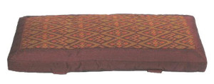Ikat Pattern Meditaiton Bench Cushion