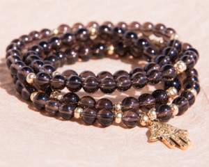 smoky quartz mala meditation