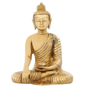 Brass Earth Touching Buddha Altar Statue