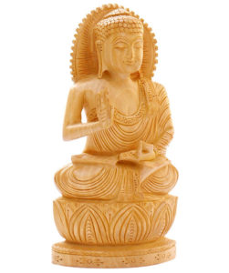 Wooden Teaching Buddha Statue