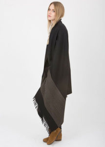 Twill Handwoven Merino Striped Meditation Shawl