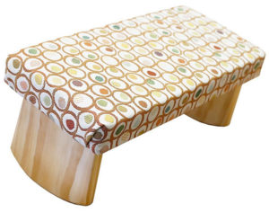 Dual Height Padded Meditation Benches