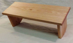 Adjustable Red Oak Meditation Bench