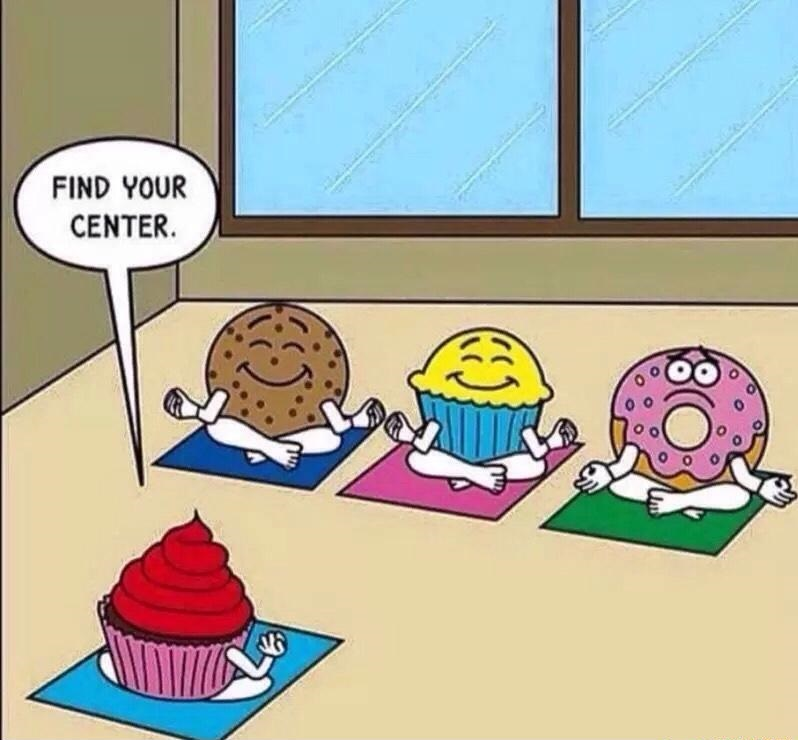 Find Your Center Meditation Joke